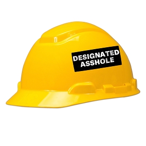 Designated Assh*le Hard Hat Helmet Sticker